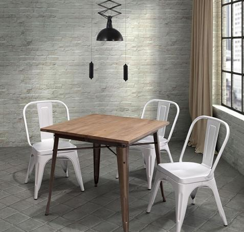 Titus Dining Table With Reclaimed Wood Top From Zuo Modern - Reclaimed Wood Dining Tables - A Timeless Statement Piece