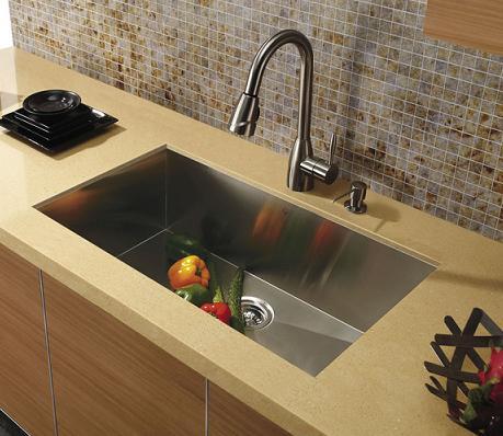 Undermount Zero Radius Kitchen Sink From Vigo Industries