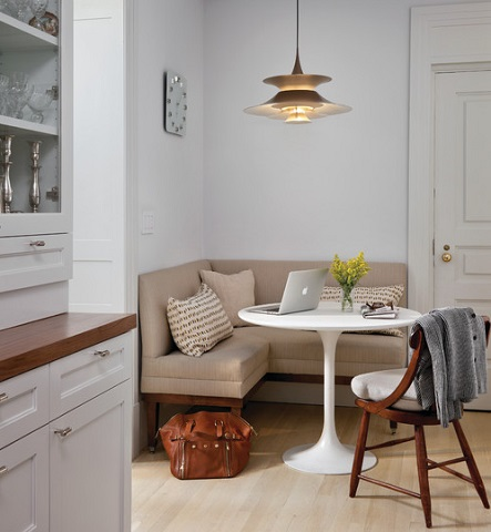 Breakfast Nooks Can Seat Anywhere From Two To Six And Double As Great Centralized Yet Out Of The Way Workstations (by Best&Company)