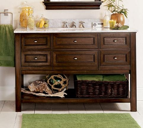 Awesome Classic Single Wide Sink Console In Espresso From Pottery Barn
