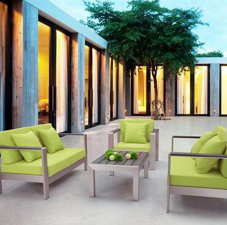 Cosmopolitan Aluminum Outdoor Set From Zuo Modern