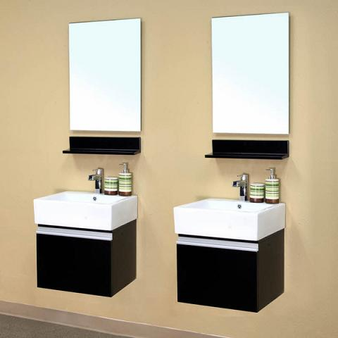 Double Wall Mounted Bathroom Vanities From Bellaterra Home
