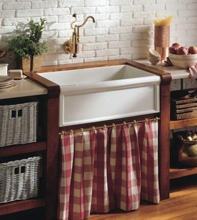 Installing A New Counter Gives You More Freedom To Choose A Uniquely Shaped Sink, Like This Luberon Cuisine Sink From Herbeau