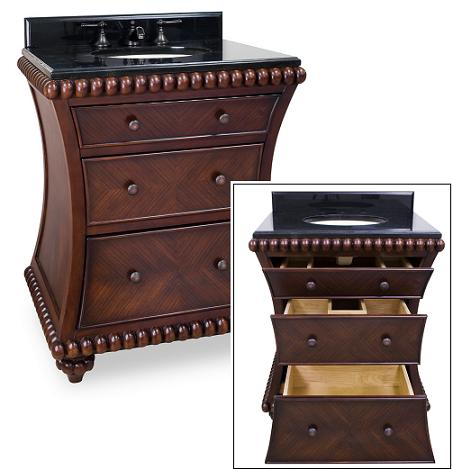 Rosewood Beaded Bathroom Vanity From Hardware Resources