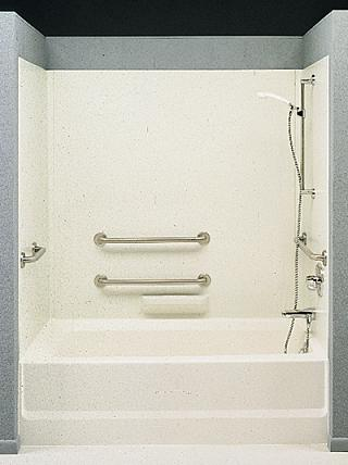 Swanstone HA-58 High-Gloss ADA Tub Wall Kit