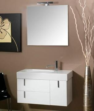 This Petite Enjoy Vanity From Iotti Has Two Petite Stacked Drawers And One Compact Cabinet