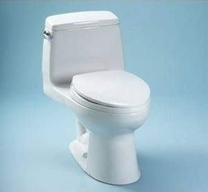 Toto Ultramax Toilet With SanaGloss Glazed Bowl And Trapway