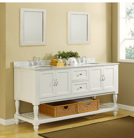 An Introduction To Open Shelf Bathroom Vanities - Bathroom vanities with shelves