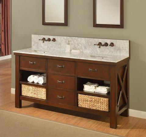 Xtraordinary Spa Double Vanity With Carrera Marble Top From Direct Vanity