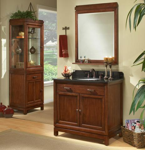 "36"" Modena Vanity With Cabinet And Mirror From Sagehill Designs"