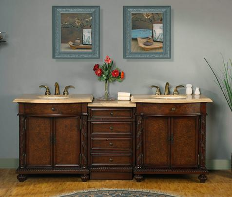 "84"" Modular Double Vanity From Silkroad Exclusive"