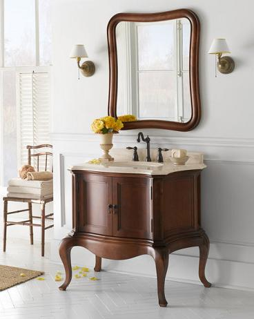 "Chardonnay 36"" Wood Vanity Cabinet From RonBow"