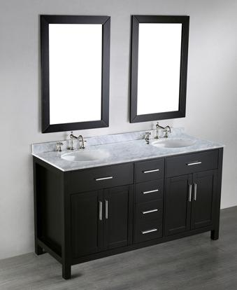 On A Simple Vanity Cabinet, Distinctive Hardware Can Significantly Impact The Overall Style