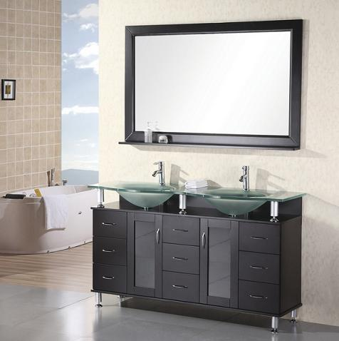 "Redondo 61"" Double Vanity From Design Element"