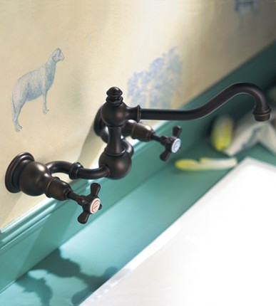 Royale Wall Mounted Bridge Faucet From Herbeau