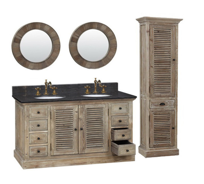 Recycled Fir Double Sink Vanity WK1960
