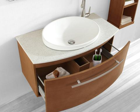 "Anabelle 40"" Bathroom Vanity With Smooth, Soft Closing Drawer Glides From Virtu USA"