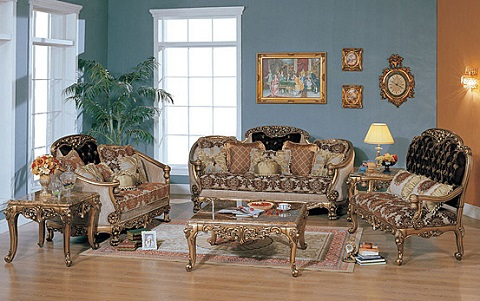 Breanna Antique Replica Sofa And Loveseat Set From AFD