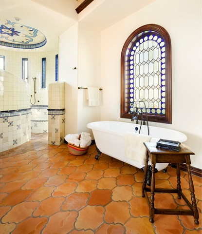 Contrasting Terracotta Oranges With Bright Primary Blues Creates An Instant  Mediterranean Look And Feel (by