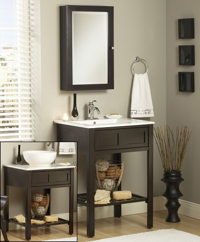 "Parsons 24"" Bathroom Vanity With Adjustable Height Legs From Sagehill Designs"