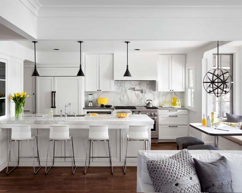 The Classic Clean, White Kitchen Is An American Staple, And This Year Is More Popular Than Ever (by Tim Cuppet Architects)