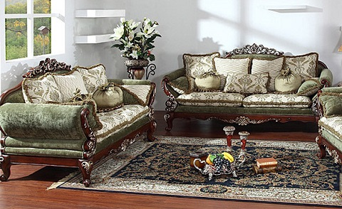 Verte 2 Piece Antique Replica Sofa Set From AFD