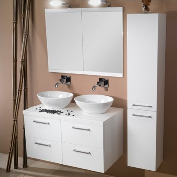 Compact Double Sink Vanity | Home Decor & Renovation Ideas