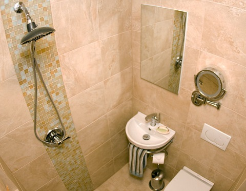 This Lovely 3/4 Wet Bathroom Is Little Larger Than A Shower Stall, But Offers The Full Functionality Of A Much Larger Bathroom (by J.T. McDermott Remodeling, photo by Jeff Smyth)