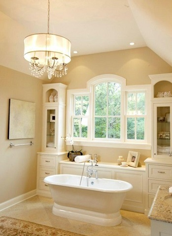 Even A Simple Cottage Style Bathroom Gains A Distinctly More Sophisticated Elegant Appearance With The