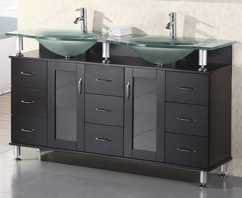 Tempered Glass Vanity Tops For A Striking Modern Bathroom