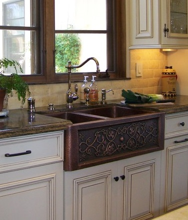 Switching From Fireclay To Copper Takes Apron Sinks To The Next Level,  Offering A Much