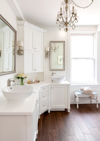 Though It Might Seem Silly, Using A Cottage Style In A Larger Bathroom Will  Immediately
