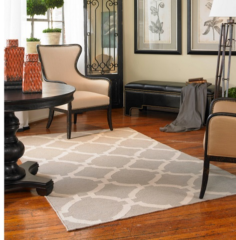 Bermuda 5x8 Gray Wool Rug From Uttermost