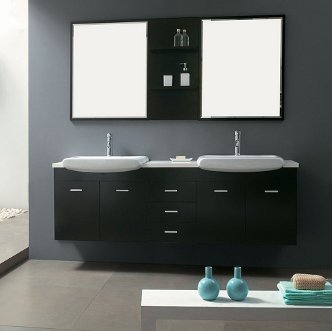 wall mounted bathroom vanities without tops vanity units double sink from martin furniture contemporary