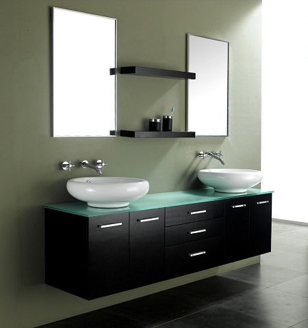 wall mounted bathroom vanities (and why they sometimes have legs)