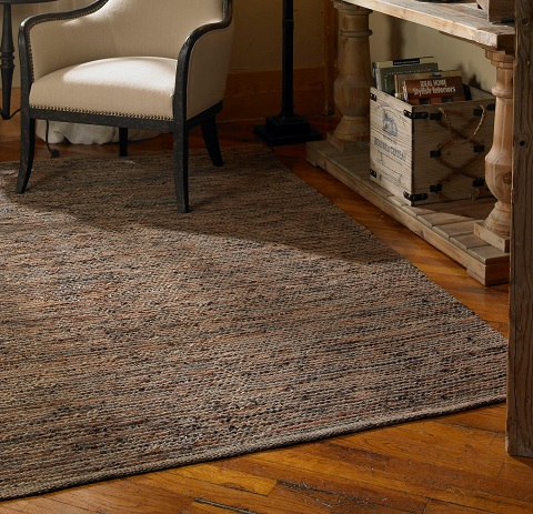 Culver 5x8 Woven Leather Rug From Uttermost
