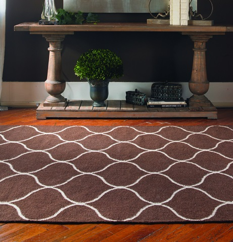 Hamilton 8x10 Dark Chocolate Wool Rug From Uttermost