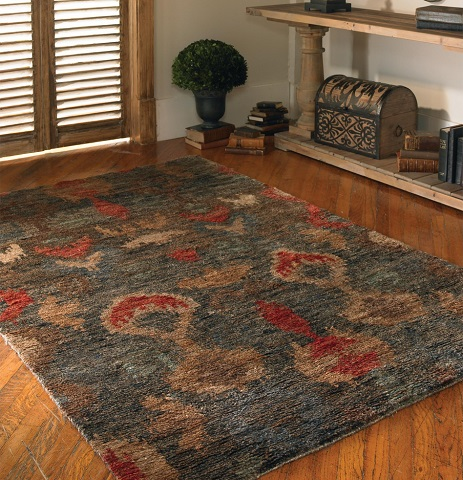 Hand Knotted Java 8 x 10 Ikat Rug From Uttermost