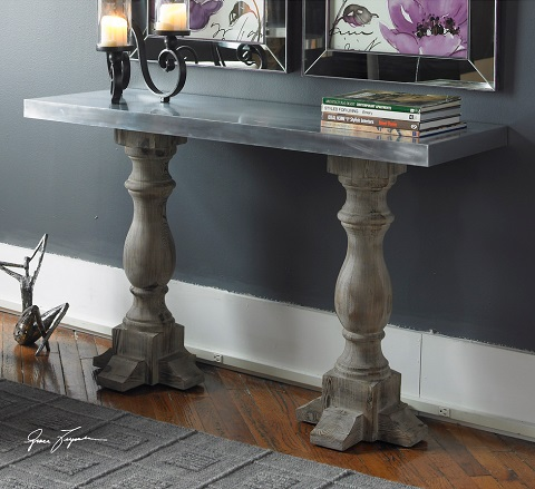 Ordinaire Uttermost Martel Console Table 24324