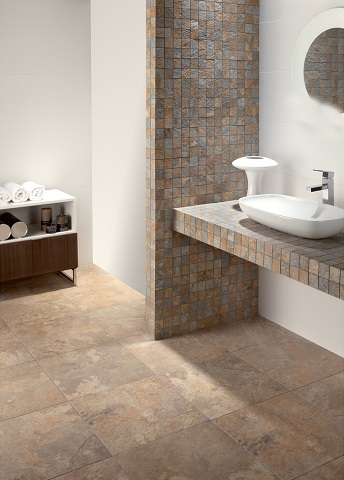Dolmen Gold Glazed Porcelain Tile From Tesoro