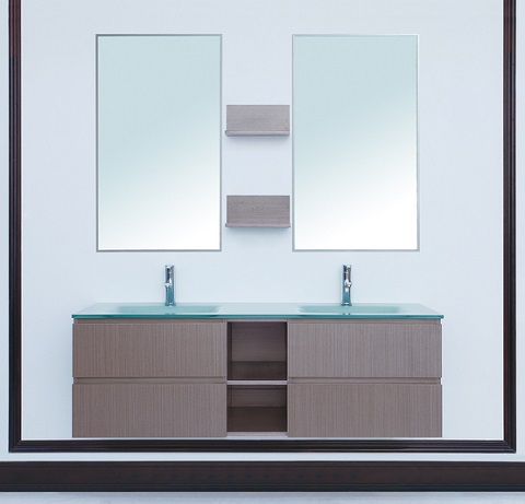 "Avaya 60"" Double Sink Vanity From Stufurhome"