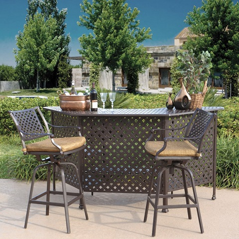 Charleston 3 Piece Outdoor Bar Set From AFD
