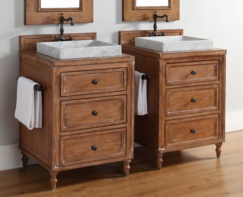 Wood backsplashes have a unique luxury feel, and now will be available on more of James Martin's bathroom vanities