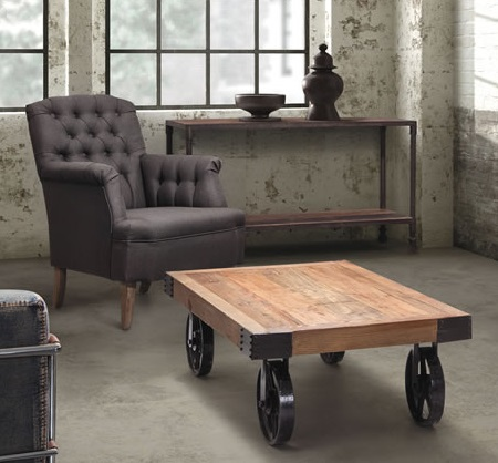 Barbary Coast Cart Table In Distressed Natural 98130 From Zuo Modern