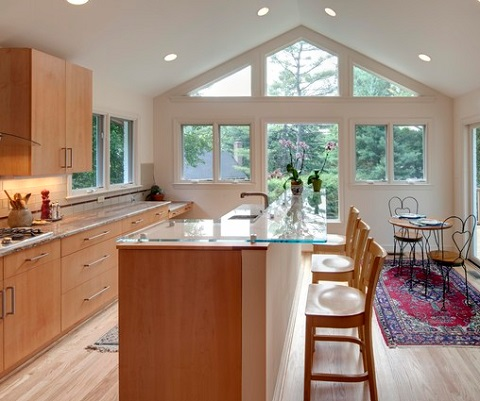 Kitchen islands are extremely customizable, so take care to build one that will really enhance not just the look but also the functionality of your kitchen (by Case Design/Remodeling, Inc.)