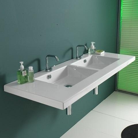 Mars Wall Mounted Bathroom Sink From Ceramica Tecla 04011