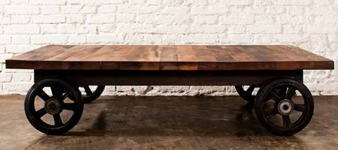V33 Coffeecart In Reclaimed Wood HGDA118 From Nuevo Living