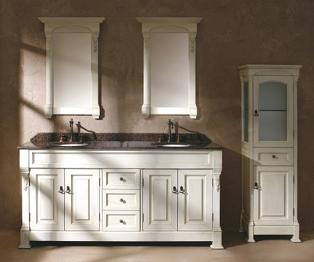 brookfield 72 double bathroom vanity with cabinet in cottage white 147 114 5741