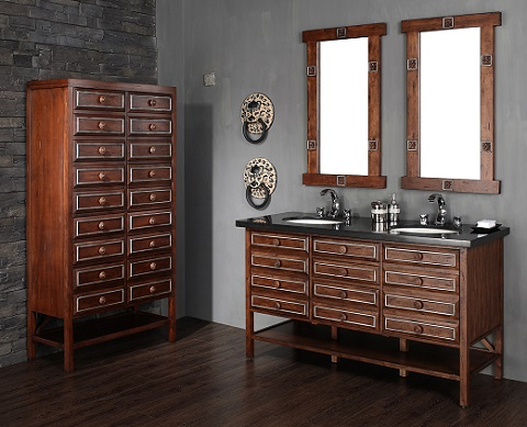 tacoma 60 double bathroom vanity with cabinet 350 v60d sws from james martin - Bathroom Cabinets Tacoma
