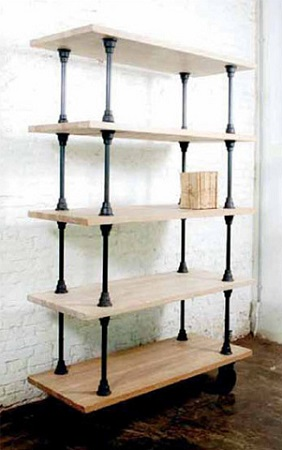 V21 5 Tier Shelving Unit In Weathered Oak HGDA137 From Nuevo Living